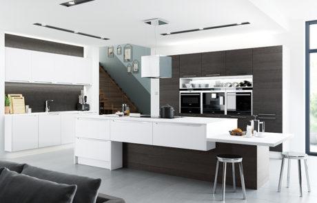 olympia-white-black-brown-ferrara-kitchen-cabinets-island