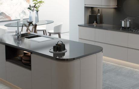 strada-gloss-cashmere-kitchen-island-quadrant-cabinets